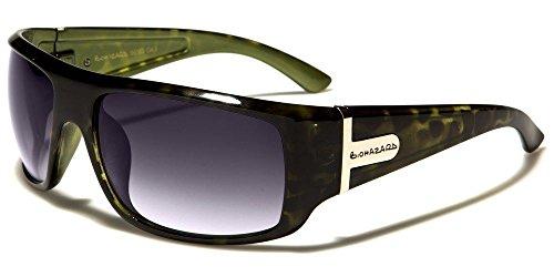 Green Torotiseshell Biohazard Flat Top Thick Rectangle Men'S Designer - Independent Sunglasses Italian