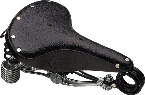 Brooks Saddles B135 Bicycle Saddle (Chrome Double Springs, Black ) ()