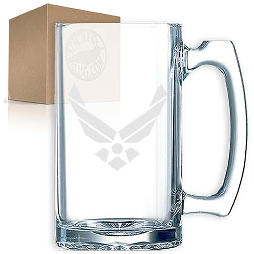 Air Force Stein - US Air Force Etched Engraved Glass Beer Mug 27 ounce stein tankard