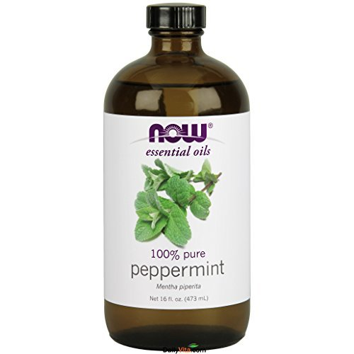 NOW Essential Oils - Peppermint Oil (100% Pure) - 16 fl. oz (473 ml) by NOW by NOW Foods