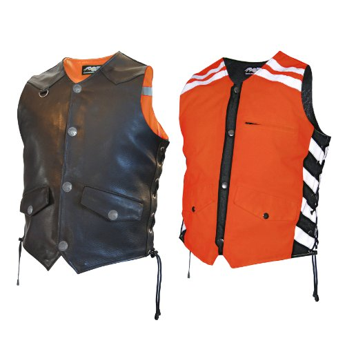 - Missing Link Men's G2 D.O.C. Reversible Safety Vest (Black/Orange, X-Large)