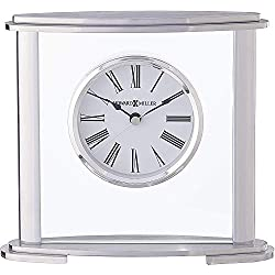 Howard Miller Glenmont Table Clock 645-774 - Modern Glass with Quartz Movement