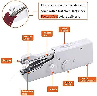 Máquina de coser portátil de mano Mini máquina de coser eléctrica ...
