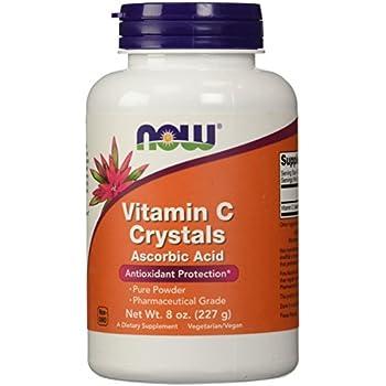 NOW Vitamin C Crystals Ascorbic Acid 100% Pure Powder, 8 Ounces