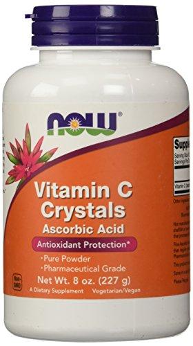 Ascorbic Acid Powder (NOW Vitamin C Crystals Ascorbic Acid 100% Pure Powder, 8 Ounces)