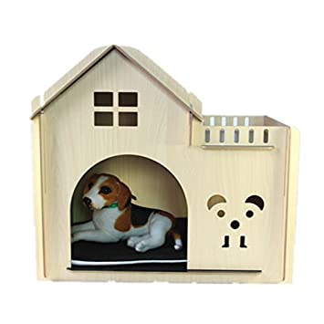 WXX gato o perro apartamentos casitas de madera mascota de la perrera: Amazon.es: Hogar