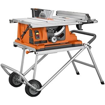 Merveilleux Ridgid R4510 Heavy Duty Portable Table Saw With Stand