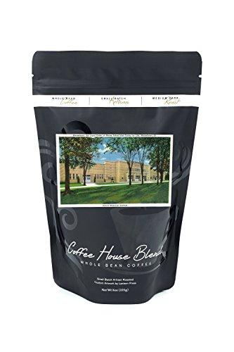Mooseheart, Illinois - Exterior View of the Illinois Memorial Stadium (8oz Whole Bean Small Batch Artisan Coffee - Bold & Strong Medium Dark Roast w/Artwork)
