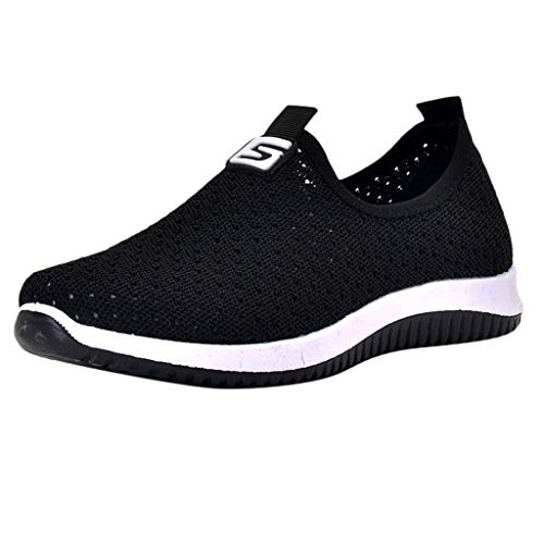 Women's Walking Tennis Shoes,SMALLE◕‿◕ Women's Lightweight Walking Athletic Shoes Breathable Mesh Sneakers Running Shoes Black