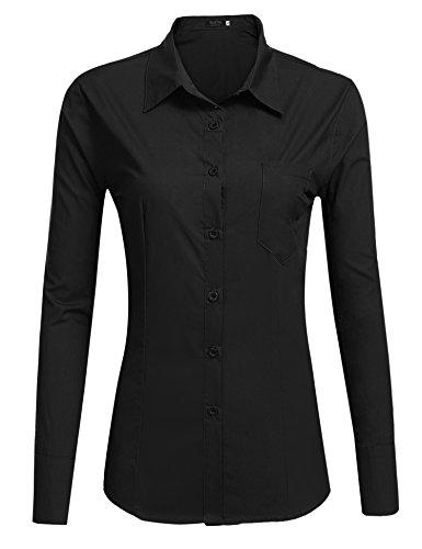 juniors black button down dress shirt - 3