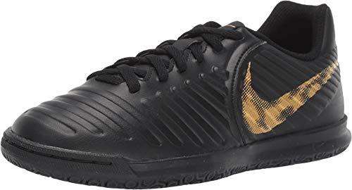 Nike Jr LegendX 7 Club (IC) Soccer Shoe (1.5Y US, Black/Metallic Vivid Gold)