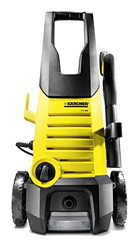 karcher k2.360 1400 watt high pressure home and car washer with wheels  120 bar, 6m cable