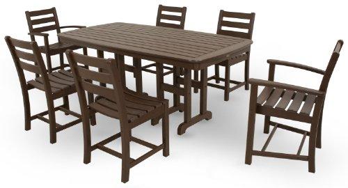 (Trex Outdoor Furniture TXS118-1-VL Monterey Bay 7-Piece Dining Set, Vintage Lantern)