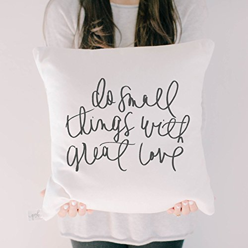 Throw Pillow - Do Small Things, Handmade in the USA, calligraphy, home decor, wedding gift, engagement present, housewarming gift, cushion cover, throw pillow