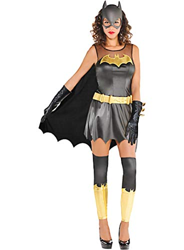 HalloCostume Adult Batgirl Dress Costume - Batman, Halloween Costumes for Women -