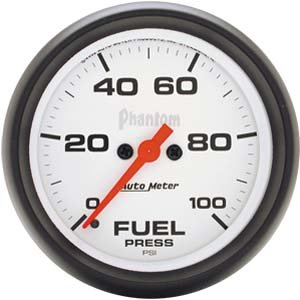 Autometer Phantom 2 5/8 Fuel Pressure Gauge Universal (Phantom Full Sweep Autometer)