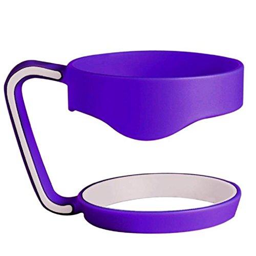 Color Tumbler Mug Handle FunFunman 30 Oz Stainless Steel Insulated (Purple)