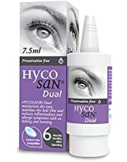 Hycosan Dual - Preservative Free Eyedrops - 0.05% Sodium Hyaluronate and 2% Ectoin- Recommended for Relief from Lipid Deficient Dry Eye and Meibomian Gland Dysfunction - 7.5ml