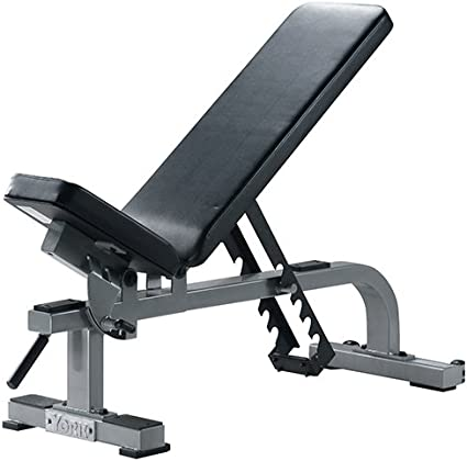 Amazon.com : York Barbell 54027 Flat to Incline Bench44; White ...