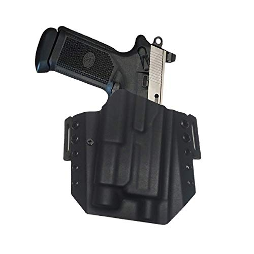 Elite Force Holsters: Light Bearing Kydex Holster for FNX-45 Tactical FNX-T with Streamlight TLR1, Not RMR Cut - Black, Right Hand