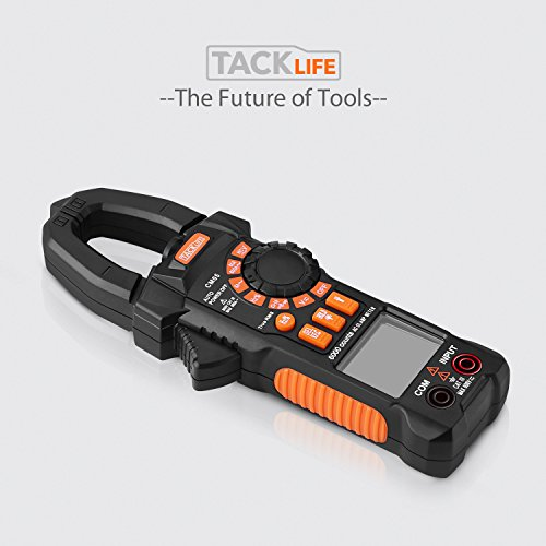Clamp Meter, Tacklife CM05 Clamp Multimeters, 6000 Counts,AC/DC Voltage Tester, AC Current Detector, AC Signal Frequency, VFC, NCV, Resistor, Capacitor, Diode, Duty Cycle, Continuity Tester by TACKLIFE (Image #8)