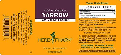 Herb Pharm Yarrow Flowering Tops Liquid Extract - 4 Ounce by Herb Pharm (Image #1)