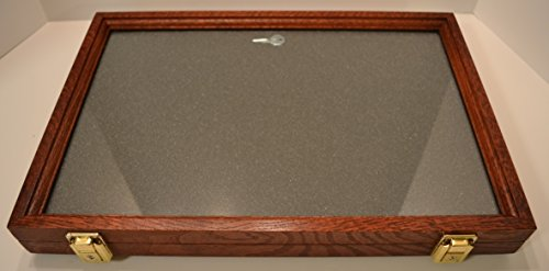 Fossil Display (Two Timbers Display Case Oak with Cherry Finish 2