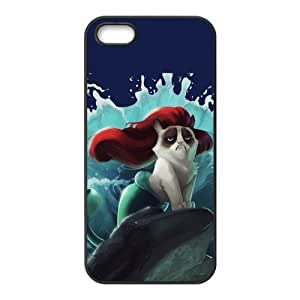 Cute Grumpy Cat Cartoon Hard Rubber Phone Cover Case for iPhone 5,5S Cases