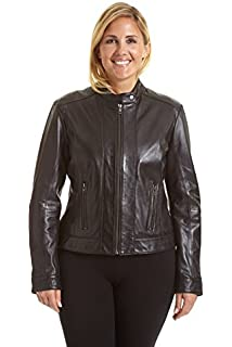 03ad98063cb Excelled Leather Women s Plus Size Updated M C Jacket at Amazon ...