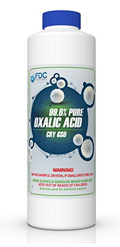 99.6% PURE OXALIC ACID Powder C2H2O4 (Ethanedioic Acid Dihydrate) Rust Remover, Bleaching Agent, Wood Stain Remover & More! (Rust Powder)