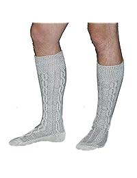 Trachten Haus Men's Long Embroidered German Lederhosen Wool Socks