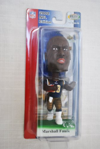 St Louis Rams star Marshall Faulk #28 official NFL Upper Deck Playmakers Bobble card set Bobblehead by Upper Deck