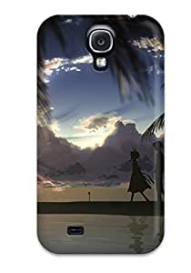 New Arrival Case Specially Design For Galaxy S4 (animal Ears Beach Clouds Dj Max Dress Male Shortsilhouette Sky Suee Sunset Tree Yuuki Tatsuya)