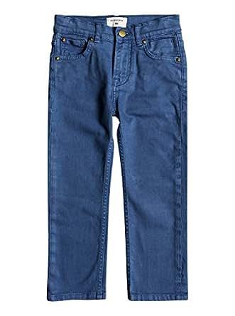 QUIKSILVER Boys' Little Distorsion Colors Youth Demin Jean Pants, Bijou Blue, 7X