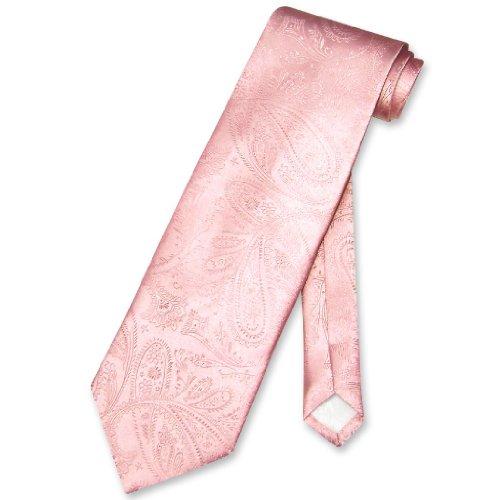 Vesuvio Napoli NeckTie PINK Color Paisley Design Men's Neck Tie