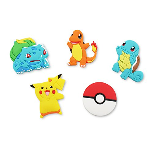 Finex - Set of 5 LARGE 3 inches - Pikachu Refrigerator Magnets Fridge Magnet Set for Locker - Yellow Pikachu Red Poke Ball White Pokeball Pikachu Charmander Bulbasaur Squirtle]()