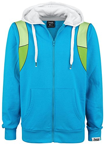 Hoody Azul Zip Blanco Xl Adventure Time Finn Rq7wnA8