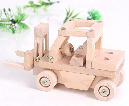 HeroStore Disassembly Assembled Airplane Model Wooden Toy Assembly Car DIY Jeep/Train Motorcycle Educational Toys