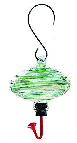 Gardman BA05701 Oval Green Swirl Glass Hummingbird Feeder, 6