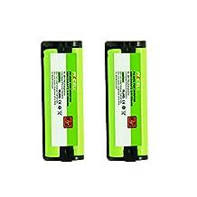 2Pack PANASONIC HHR-P105 Cordless Phone Ni-MH Battery