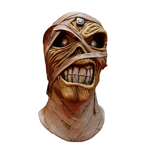 Trick or Treat Studios Iron Maiden Powerslave Full Head Mask, Beige, -