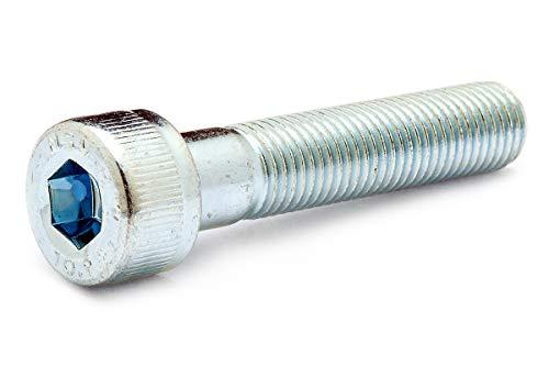 鉄(SCM435)/三価ホワイト キャップボルト (細目・半ねじ) M12×100 <ピッチ=1.25mm> (2本)
