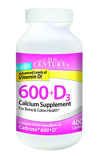 21st Century Calcium Plus D Supplement, 600 mg, 400 Count