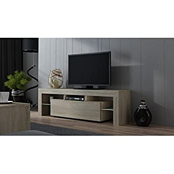 Concept Muebles TV Stand MILANO 160 Matte Line/Modern LED TV Cabinet/Tv  Console