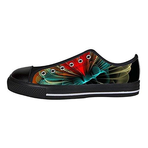 Custom Shoes Tela Lacci da Alto in 3D Canvas Men's stereoscopica Scarpe di delle Ginnastica di Stampa Scarpe Scarpe Le Sopra I Scarpe XWrZwq1vXx