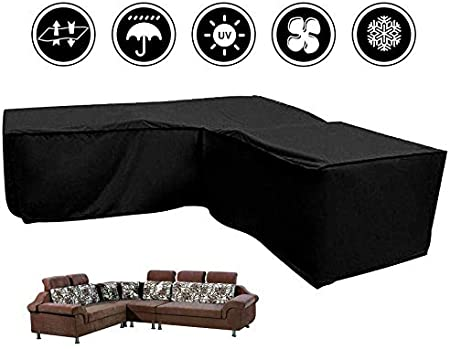 Silvotek L Shaped Garden Furniture Covers L Shape 79/×106/×35.4 Protective Cover for Corner Sofa,L Shaped Outdoor Sofa Cover Waterproof L Shaped Patio Couch Covers