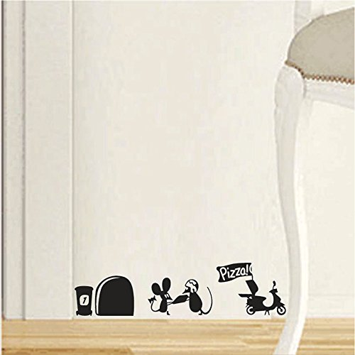 Ruikey Etiqueta de la pared del agujero del Rata Vinilo Pegatinas Decorativas Pared Dormitorio Sal/ón Guarder/ía Habitaci/ón Infantiles Ni/ños Beb/és