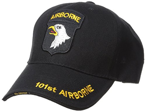 Fox Outdoor 78-4413 Embroidered Ball Cap 101St Airborne HD Division/Black
