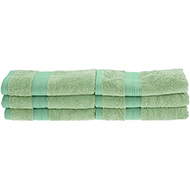 Superior Collection Rayon from Bamboo and Cotton Soft/Absorbent Hand Towels (Set of 6), Spring Green