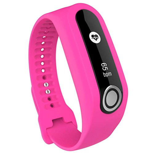 Iusun Soft Silicone Band Strap Replacement Wrist For TomTom Touch Cardio Activity Tracker (Hot Pink)